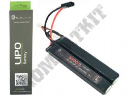 WE Airsoft 7.4v Lipo 3000mAH 20c 3+3 2 Way Nun-Chuck Battery Pack Mini Tamiya